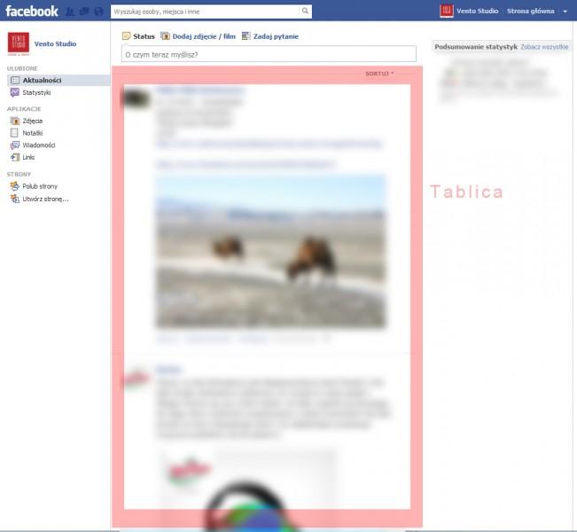 Tablica Facebook