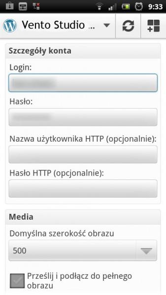Wordpress mobilny ustawienia