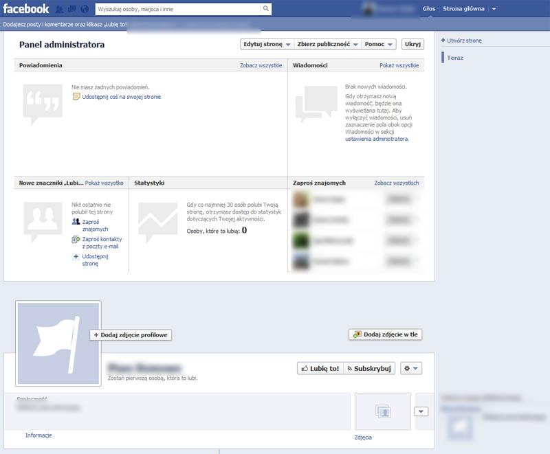 Facebook Panel Administracyjny
