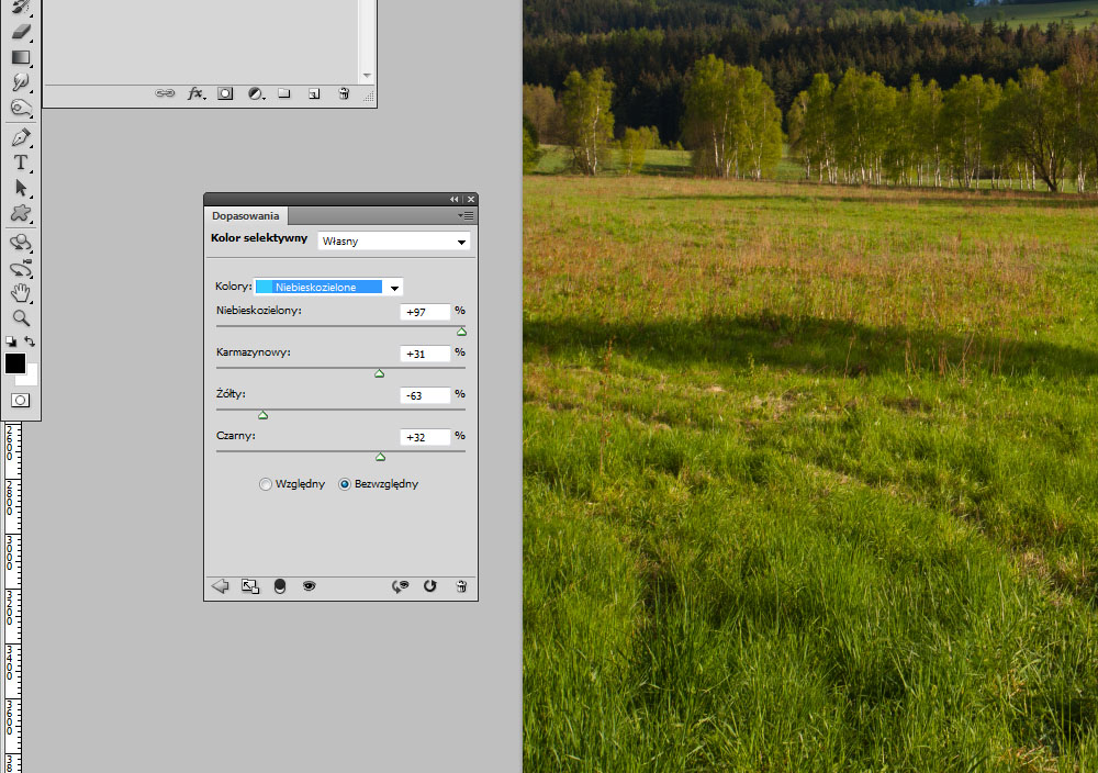 Adobe Photoshop kolor selektywny